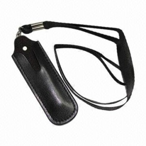 LEATHER LANYARD POUCH